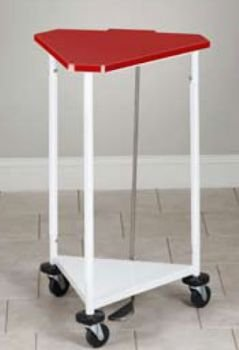 Clinton 18'' Triangular Hamper with Red Lid