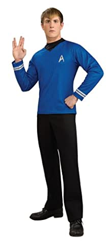 Star Trek Movie Deluxe Blue Shirt, Adult Plus Size Costume - Deluxe Blue Shirt