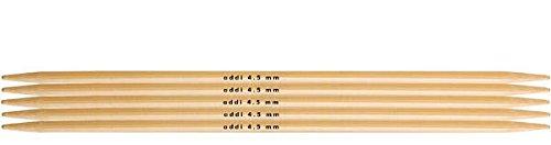 Double Needles Pointed Addi (addi Knitting Needle Double Pointed Natura Bamboo 8 inch (20cm) (Set of 5) Size US 10 (6.0mm))