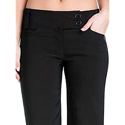 Design by Olivia Women's High Waist Slim Boot-Cut Stretch Office Pants Trousers at Women's Clothing store