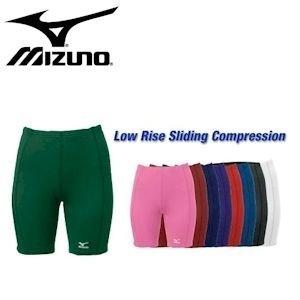 Mizuno Low Rise Compression Sliding Shorts (XX-Small, Black)