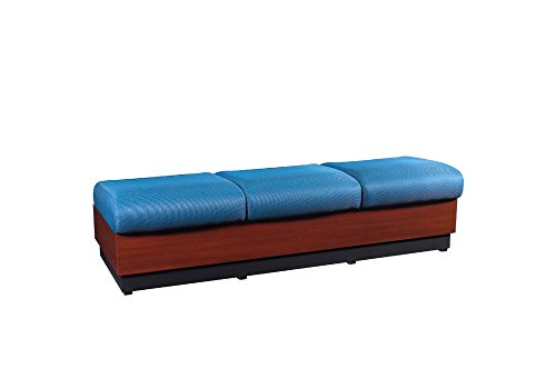 (Modular Three Seat Fabric Bench Dimensions: 74