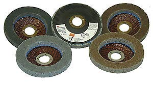 5 -PK 3M 27689 Scotch-Brite Exl Unitized Disc 4-1/2 Inch X 7/8 Inch 6S Fin // 7000028516