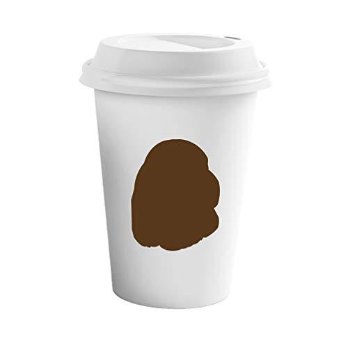 Tumbler Sussex - Style In Print Brown Sussex Spaniel Silhouette Ceramic Coffee Tumbler Travel Mug