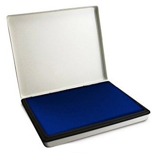 Extra Large 7quot X 11quot Industrial Rubber Stamp Ink Pad In Metal Case