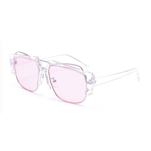 High de WLHW A Color moda UV400 Gafas Personalidad Unisex América Weight30g Decoración la Creativa C End Metal Europa Protección sol ocular Gafas de Anti PBqwdqC