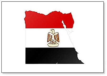 Mapa y bandera de Egipto - Imán para nevera: Amazon.es: Hogar