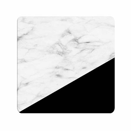 Humor Not Fade Off Mousepad Marble With Black Stripe Personalised Chic For Teen Girls ()