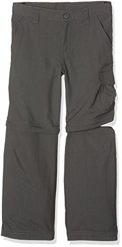 Columbia Boy's Silver Ridge III Convertible Pant, Grill, Large