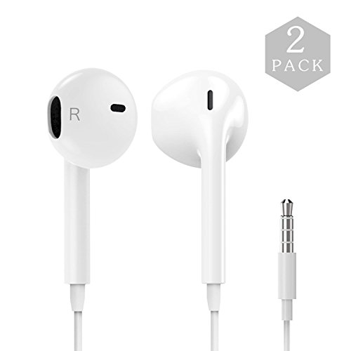 Cheap Corded Headsets SPO4u Earphones with Microphone [2 Pack] Premium Earbuds Stereo Headphones and Noise..