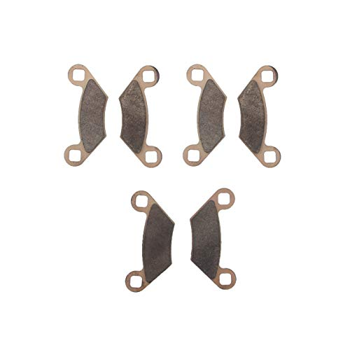 Race Driven Front and Rear Sintered Metal Severe Duty Brake Pads for Polaris Sportsman Hawkeye ()
