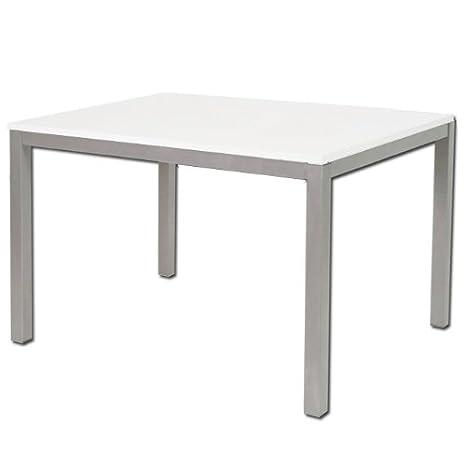 Tavolo Da Cucina 70 X 110 Allungabile.Tavolo Da Pranzo Allungabile In Legno E Metallo Da Cucina Bianco