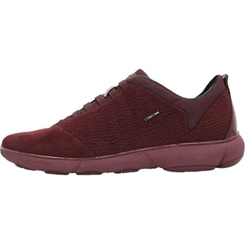 Burgundy Nebula C dk C7357 Rouge Basses Geox Femme D Sneakers HRqFw61