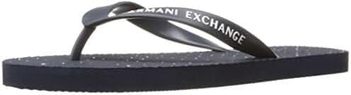 A X Armani Exchange Men's Dot Print Flip Flop