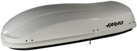 RAPID FIXING SYSTEM Farad ROOF BOX ZEUS 480 L//190 CM SATIN//EMBOSSED BLACK
