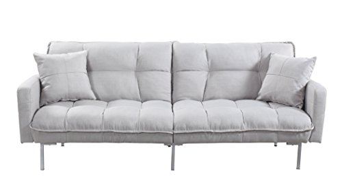 Divano Roma Furniture Collection – Modern Plush Tufted Linen Fabric Splitback Living Room Sleeper Futon 31IG1USSrxL