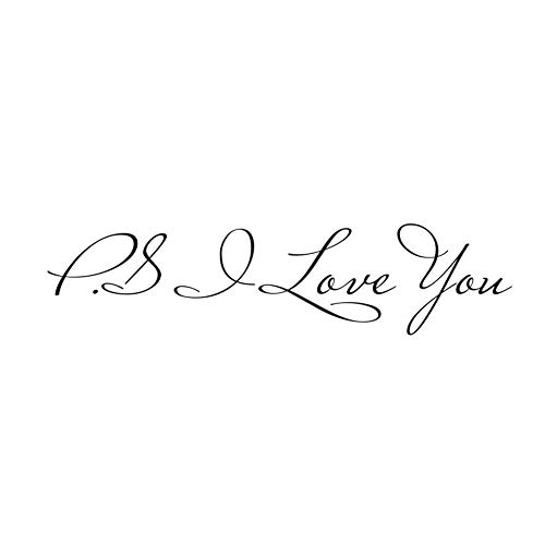 P.S.i Love You Wall Sticker Removable Wall Decal Living Room Bedroom Home Decor