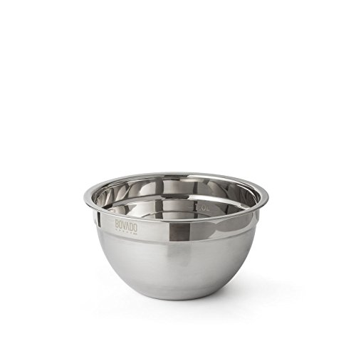Stainless Steel Mixing Bowl - 1.5qt - Flat Bottom Non Slip Base, Retains Temperature, Dishwasher Safe - By Bovado USA by Bovado USA
