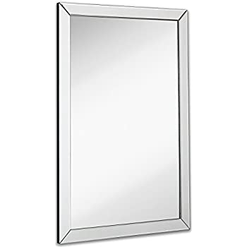 flat bathroom mirror large flat framed wall mirror with 2 inch edge 12847