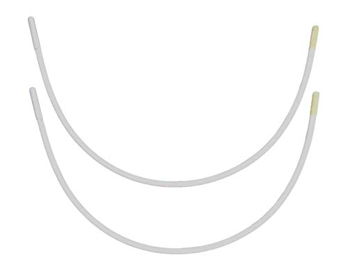 Porcelynne Carbon Steel Replacement Underwire Repair - Nylon Coated - Heavy Gauge Sturdy Wire for Bras - Regular Wire Size 58-1 Pair - 50F(DDD), 52E(DD), 54D, 56C, 58B, 60A