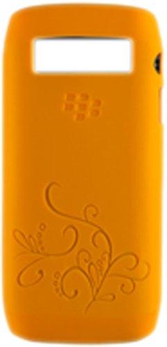 GENUINE BLACKBERRY SILICONE SKIN CASE COVER FOR BLACKBERRY 9100 NEW - ORANGE
