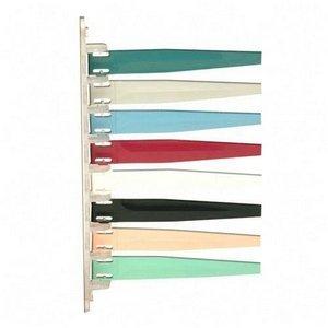 8 Flag Exam Room Signal Color: Teal, Gray, Steel Blue, Berry, White, Black, Mauve
