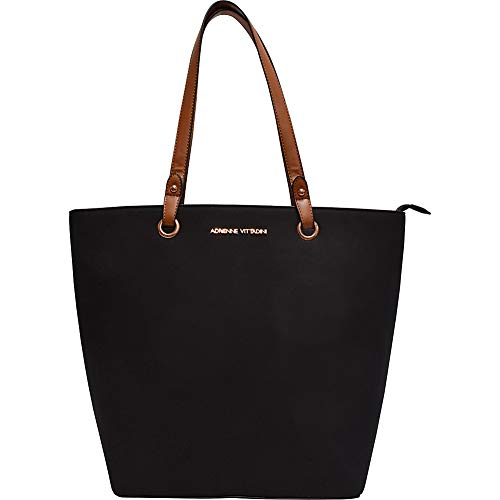(Faux Suede Grommet Everyday Laptop Tote by Adrienne Vittadini (Black))