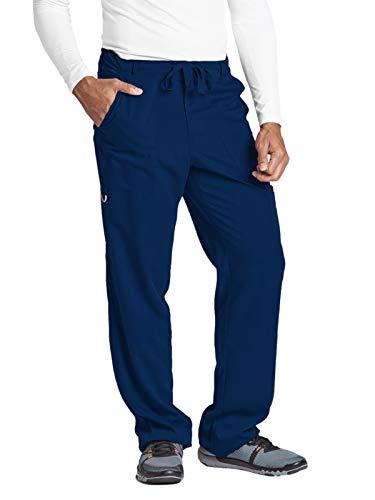 Grey's Anatomy Signature Men's Big 0203  6 Pocket Zip Fly Drawstring Scrub Pant, Indigo, ()