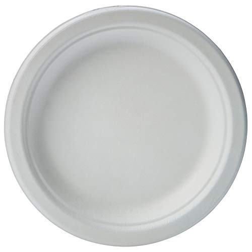 Amazon Basics Compostable Plates, 6-Inches, Pack of 1,000 6-Inch, White