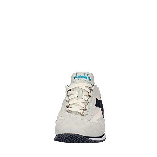 Diadora Unisex-erwachsene Hold Stonewash 12 Sneaker, Blå + Hvid Hvid