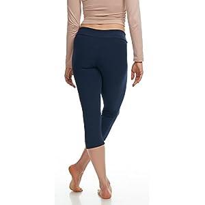 LMB Lush Moda Extra Soft Capri Leggings - Variety Of Colors - Yoga Waist - Navy