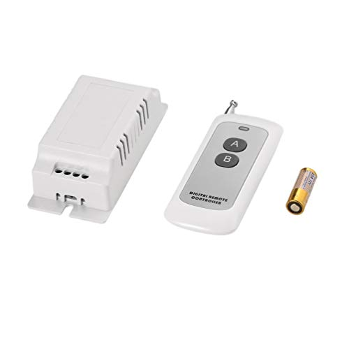 220V Two-Way Remote Control Switch Learning Code Portable Switch Power Supply Kit with 2-Key 433MHz Wireless Remote Controller