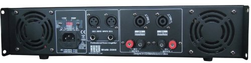 Amazon.com: 2 Channel 2000 Watts Professional DJ PA Power Amplifier 2U Rack mount SYS-2000 MUSYSIC: Musical Instruments