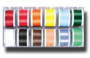 - Poly Yarn Dispenser Box w/12 Spools of Yarn