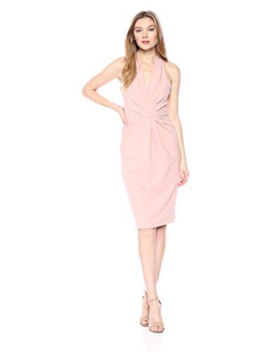 Betsey Johnson Women's Halter Dress, Blush, - Halter Dress Betsey Apparel Johnson