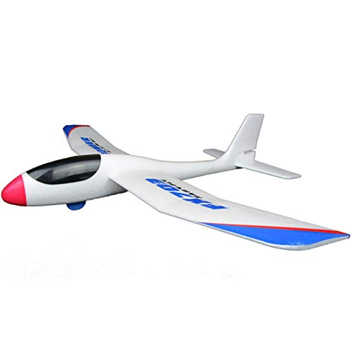(millet16zjh FX-703 690mm Wingspan Hand Throwing DIY RC Glider Kids Airplane Aircraft Toy)