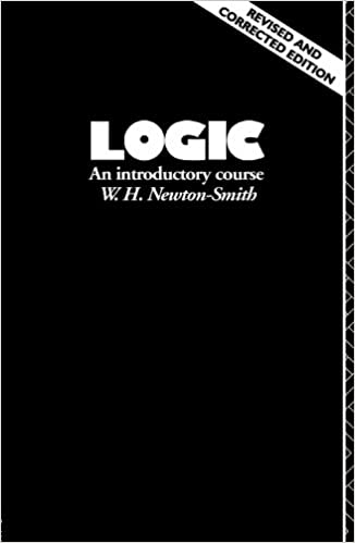 An Introductory Course Logic