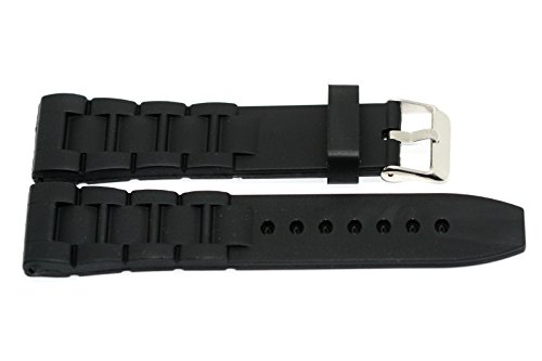 BLACK 22MM RUBBER SILICONE SPORT LINK WATCH BAND STRAP FITS SWISS ARMY VICTORINOX