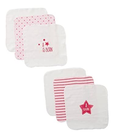 1d1eacb55 Amazon.com : 12 Pack Baby washcloth Pink for Baby Girl washcloths 100%  Cotton Terry BornCare : Baby