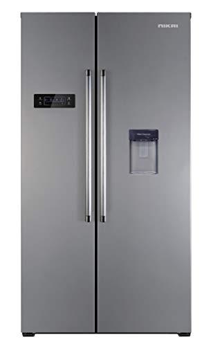 Nikai Side By Side Refrigerator, Stainless Steel - NRF800SBSD, 1 Year Warranty