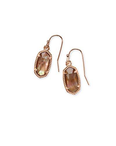 Kendra Scott Lee Rose Gold Drop Earrings in Brown Mother Pearl ()