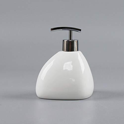 Dispensador de loción de jabón Botella de jabón líquido - Dispensador de jabón - Material cerámico - Aleación de zinc...