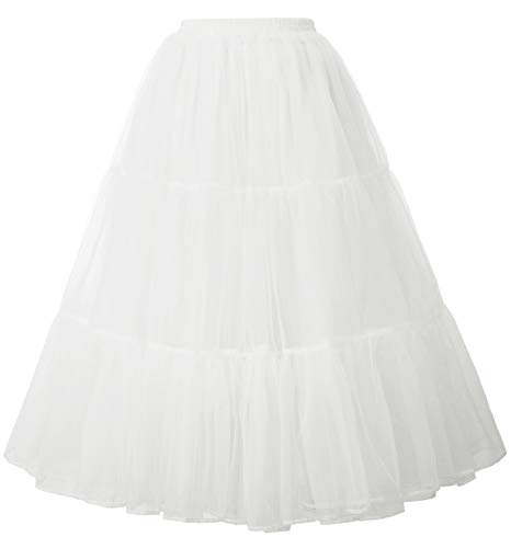 GRACE KARIN Women's Ankle Length Petticoats Wedding Slips Plus Size S-3X