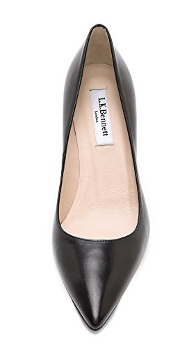 Black Toe 002 BENNETT Black Florisa Closed Heels LK Women's YqRAz