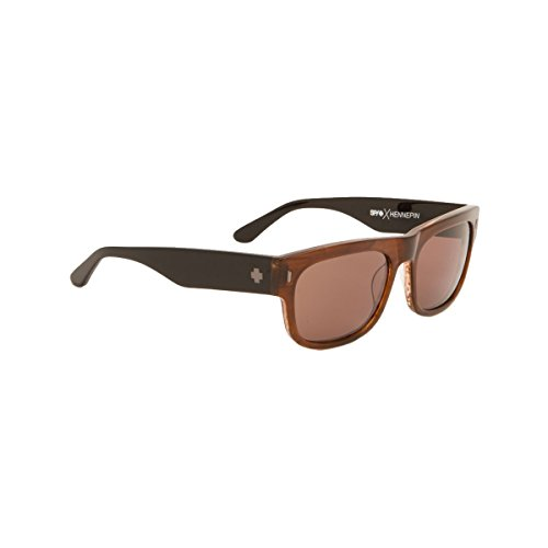 Spy Optic Unisex Hennepin Happy Lens Collection Sunglasses, Sepia/Black/Bronze, One Size Fits - R&b Dj Sunglasses