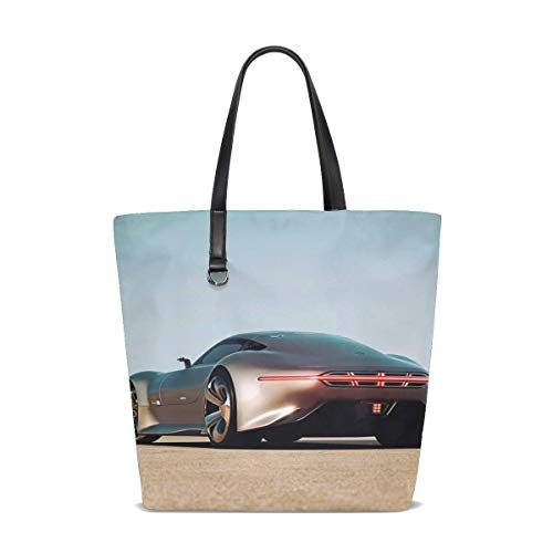 - Mercedes Benz Amg Vision Gran Turismo Silver Stunner Tote Bag Purse Handbag For Women Girls