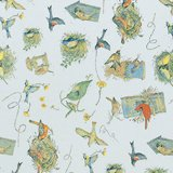 Printed Patterned Tissue Wrapping Paper birds nests luxury 5 sheets Suttons wrap