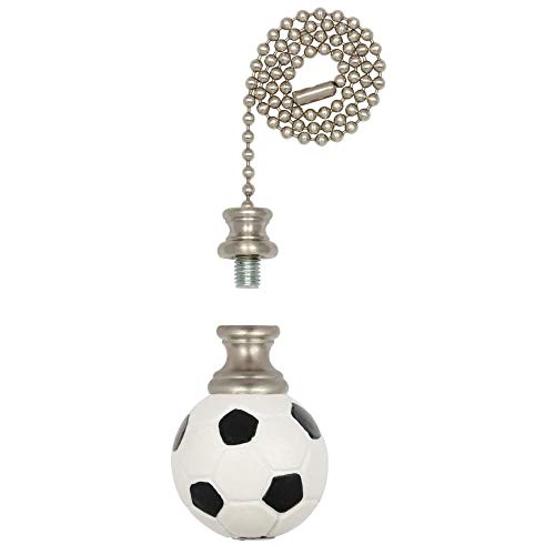 Westinghouse Lighting Westinghouse 1001300 Brushed Nickel Finish, Soccer Ball Finial/Pull Chain
