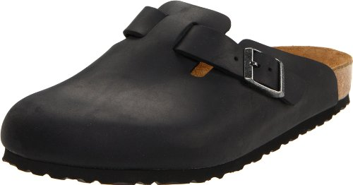 Birkenstock Boston Classic  Arch Clog,Black Oiled Leather,44 M EU (Clog Black Oiled)