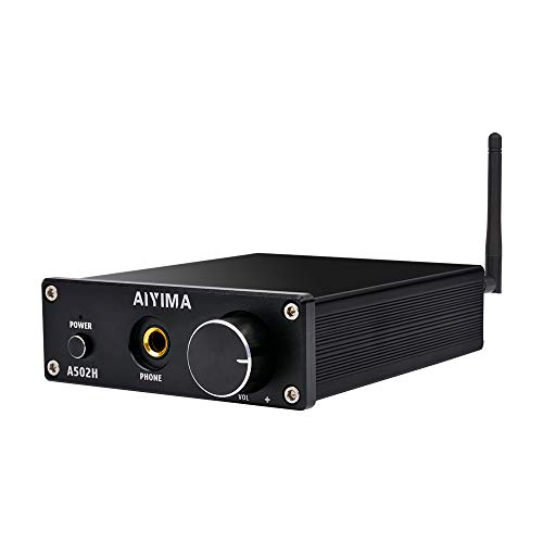 (AIYIMA 2.0 Channel HiFi Stereo Audio Amplifier with Bluetooth 4.2& Headphone Amplifier & Class D Integrated Digital Amp Receiver for Home Desktop Speakers Headphones with Power)